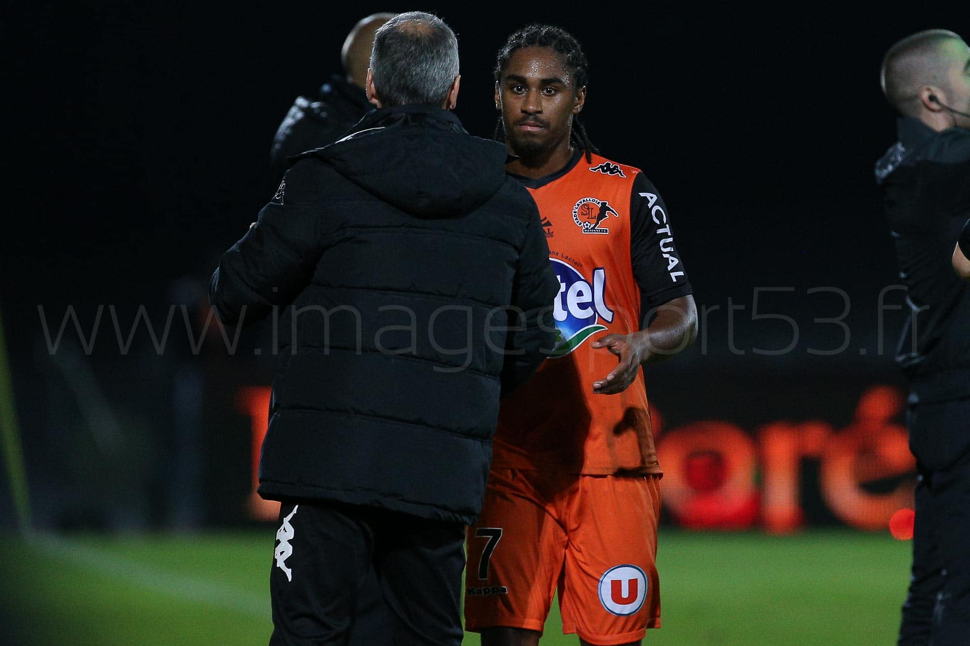 Denis ZANKO (Entraineur Stade Lavallois), Wesley SAID (Stade Lav