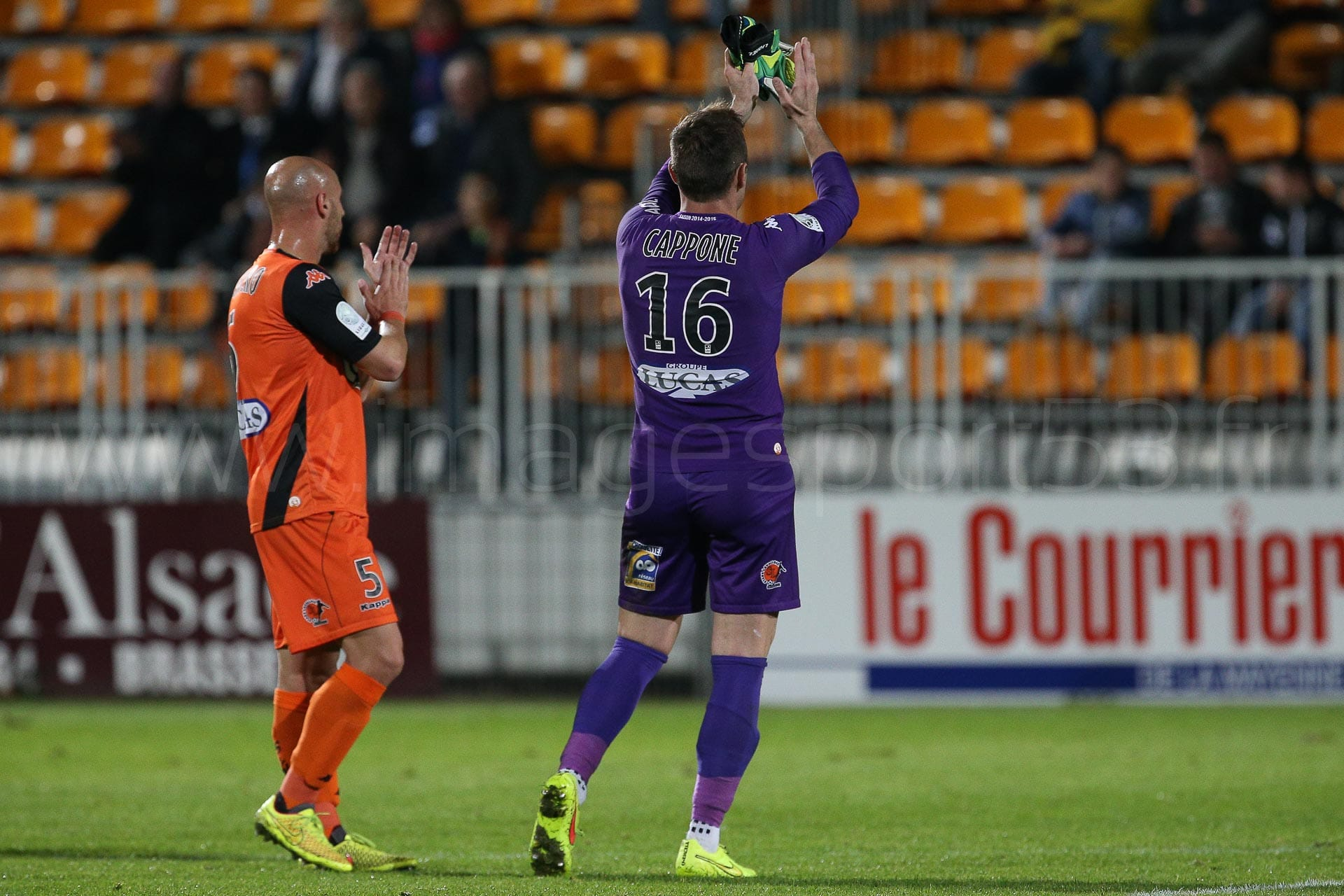 Ludovic GUERRIERO (Stade Lavallois),Lionel CAPPONE (Stade Lavall